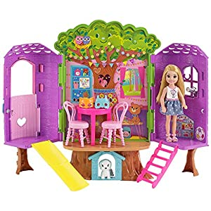 Barbie Doll Chelsea Treehouse Playset,...