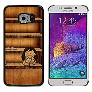 Be Good Phone Accessory // Dura Cáscara cubierta Protectora Caso Carcasa Funda de Protección para Samsung Galaxy S6 EDGE SM-G925 // School Teacher Books Study