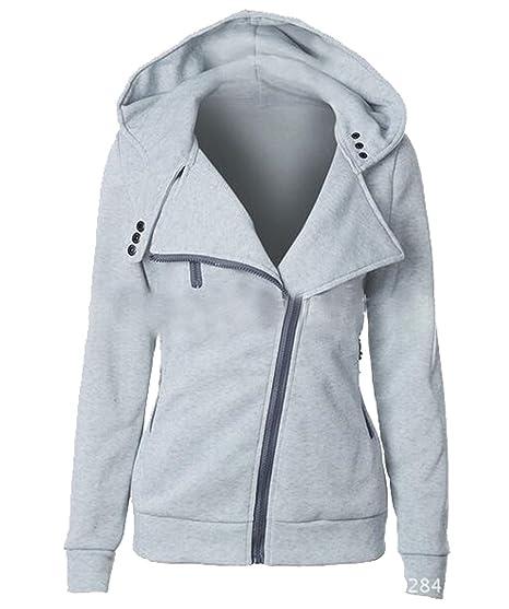XiaoTianXin-women clothes XTX Womens Long Sleeve Solid Color Hoodie Casual  Slim Hoodies Sweatshirt Jacket 44d0dc4df
