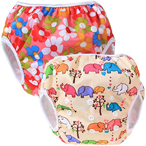 Teamoy Diaper Newborn Flowers Elephants