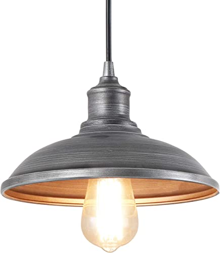 Giluta Industrial Pendant Lighting Rustic Vintage Ceiling Hanging Light Fixture Indoor Edison Lamp Retro Look for Kitchen Dining Room Farmhouse 9.75 D x 6 H