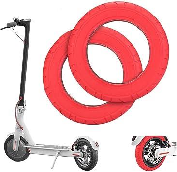 Wovatech Neumático Scooter Eléctrico | Rueda de Repuesto Delantera/Trasera de 10/8.5 Pulgadas | Neumático de Goma de Nido de Abeja para Xiaomi M365 / ...