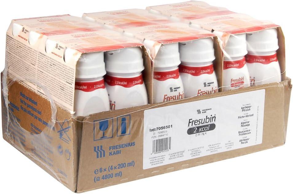 fresubin 2 Calorías Drink albaricoque de melocotón, 200 ml – Vaso de alimentos – 24 easydr Inks