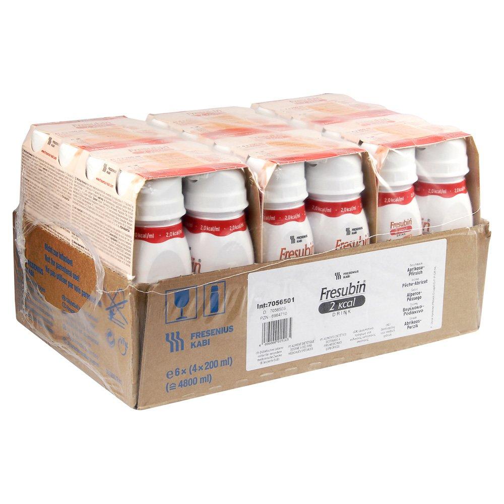 fresubin 2 Calorías Drink albaricoque de melocotón, 200 ml - Vaso de alimentos - 24 easydr Inks: Amazon.es: Salud y cuidado personal