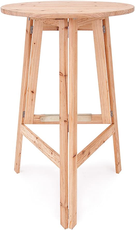 Deuba® Mesa de madera | Mesa alta | Mesa de chiringuito | plegable ...