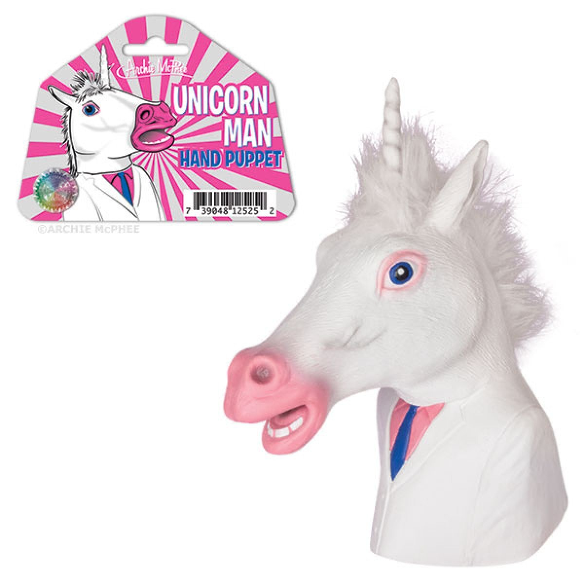 Archie Mchee Unicorn Man Hand Puppet Accoutrements