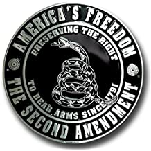 "America's Freedom the Second Amendment 12"" Metal Circle Sign"