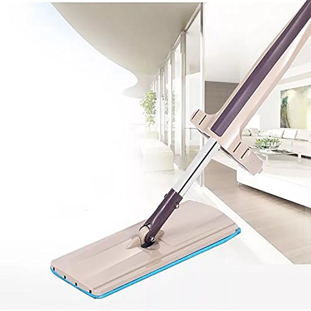 18'' Professional Microfiber Mop | Stainless Steel Adjustable Handle | 3 Premium Mop Pads With Self Wring and Scrapper Design for Easy Cleaning of Wood Tile Laminate Vinyl Floors