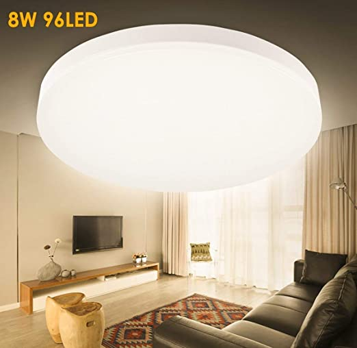 LED Ceiling Light Fixture, GreenClick 8W 3000K 80W Equivalent 9.5 Inch  Slimline Light Ceiling