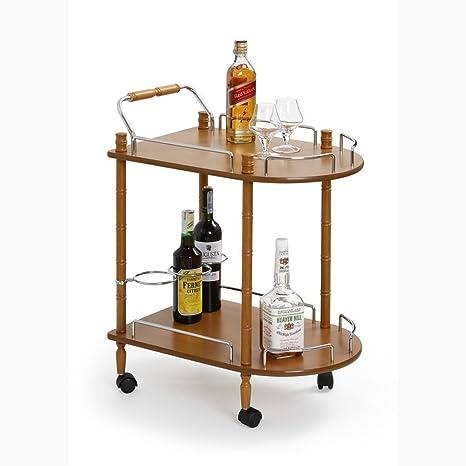 JUSTyou Mesa con Ruedas para Servir Carrito de Server Carro de Cocina Bar-4 Haya