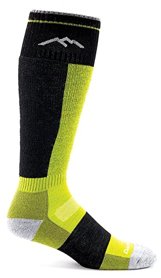 Darn Tough Vermont Merino Wolle over-the-calf Kissen Socke, Herren, Groovy