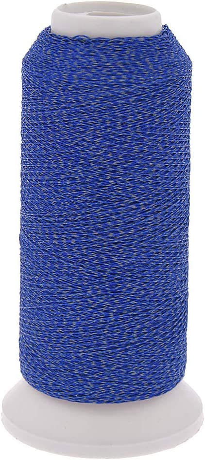 Kesheng 500M Polyester Spools Reflective Nylon Sewing Embroidery Thread Roll Compatible to Sewing Machines for Hat Clothes Artcraft Making Black, 500m