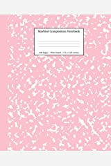 Marbled Composition Notebook: Pink Marble Wide Ruled Paper Subject Book (School Essentials) Paperback