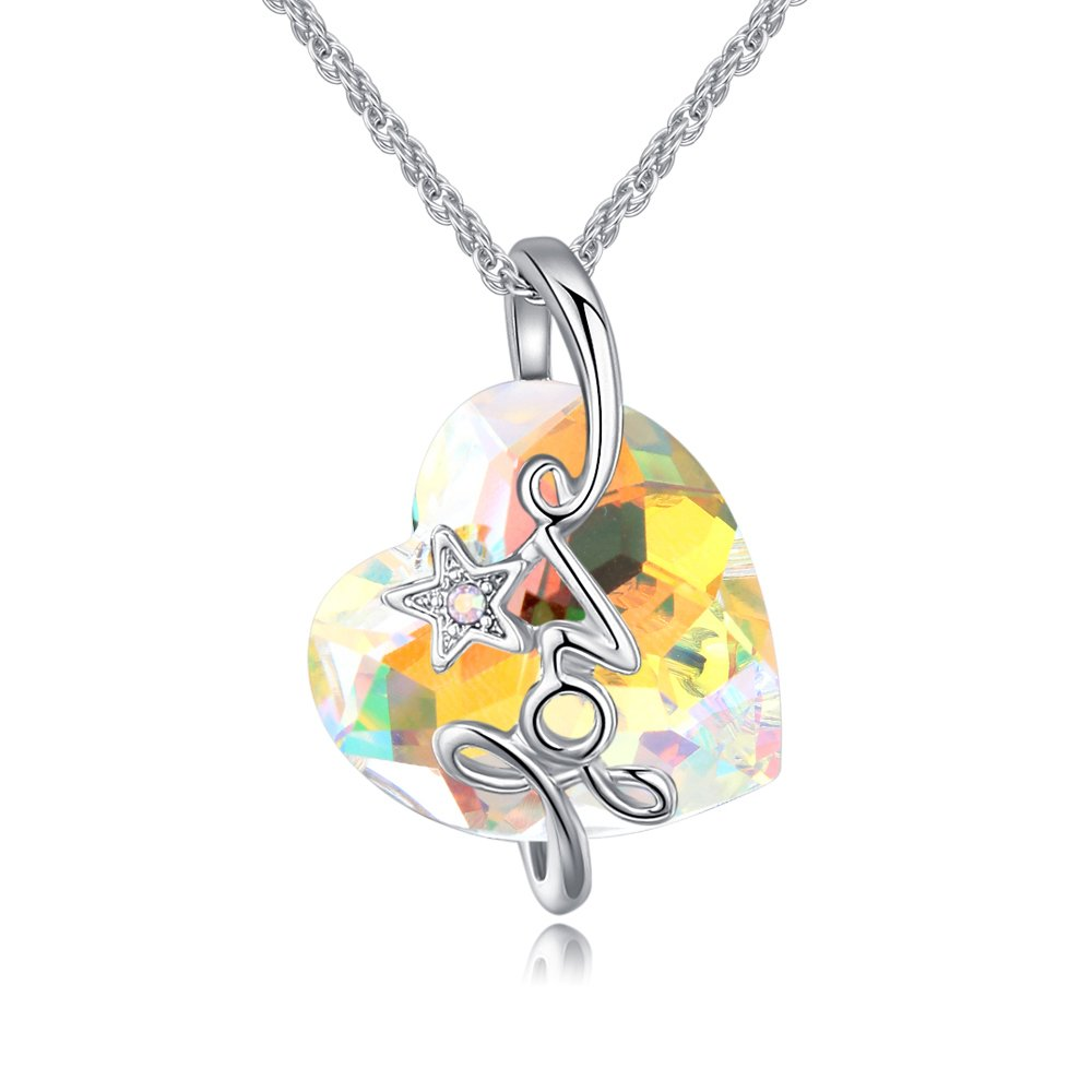Austrian Crystal Zircon Chain Wedding Jewelry For Women Ocean Heart For Valentine Gift