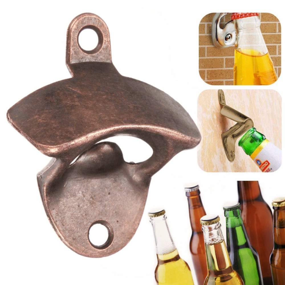 Godagoda Cast Iron Kitchen Bottle Open Wall Mount Opener Rustic Beer Decorator,Wall Mounted Bottle Opener with Free Screws