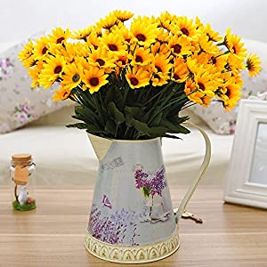 1 Bouquet 14 Heads Artificial Small Sunflower Home Wedding Christmas Decorations 4