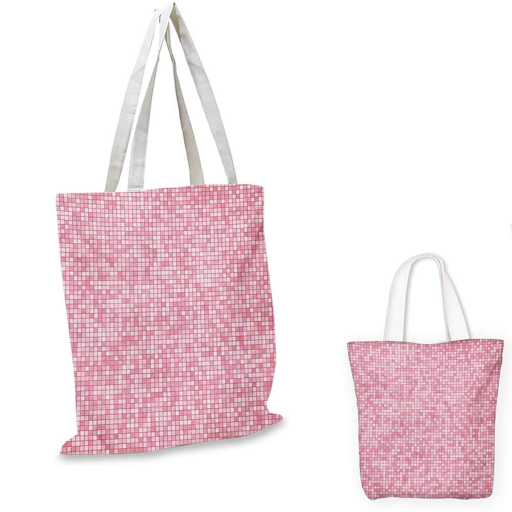 12x15-10 Pink and White canvas messenger bag Spring Inspired Abstract Floral Vintage Design with Double Exposure Effect canvas beach bag Coral Pink