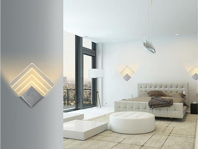 VJXS Wall Lights Aluminum Square Wall Lamp Living Room Bedroom Hallway LED  Wall Lamp