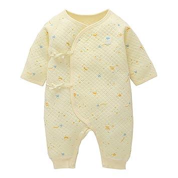 c0886079909d ALLAIBB Baby Infant Cotton Soft Cozy Long Sleeve Pajamas Romper ...
