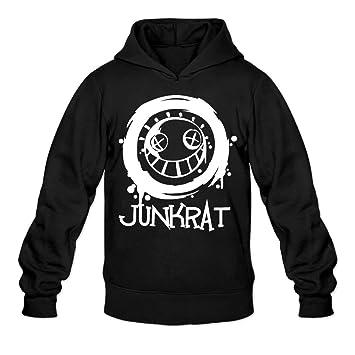 amazon com overwatch men s junkrat hoodies hoodie black clothing