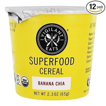 Vigilantes eats orgánico plátano Chia Superfood, 2,7 Ounce ...