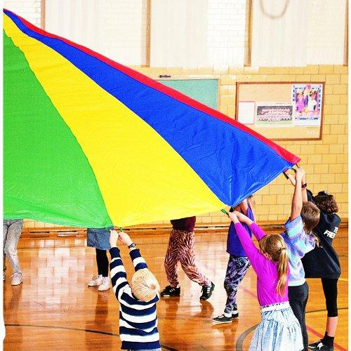 Dick Martin Sports MASP24 Parachute with 20 Handles, 24' Diameter Grade Kindergarten to 1, 4.0999999999999996