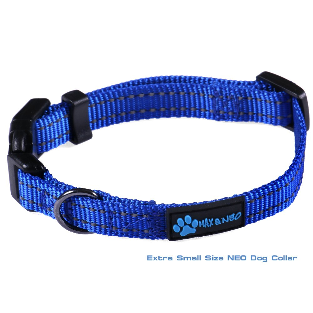 Max and Neo? NEO Nylon Buckle Reflective Dog Collar – We Donate a Collar to a Dog Rescue for Every Collar Sold