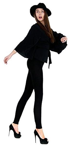 c7e4173067b1 Leggings Depot Basic Solid Plain Full Leggings Stretch 128 (Black),One Size,