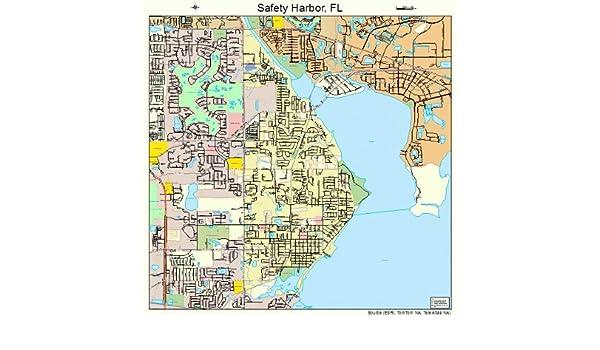 Safety Harbor Florida Map.Amazon Com Large Street Road Map Of Safety Harbor Florida Fl