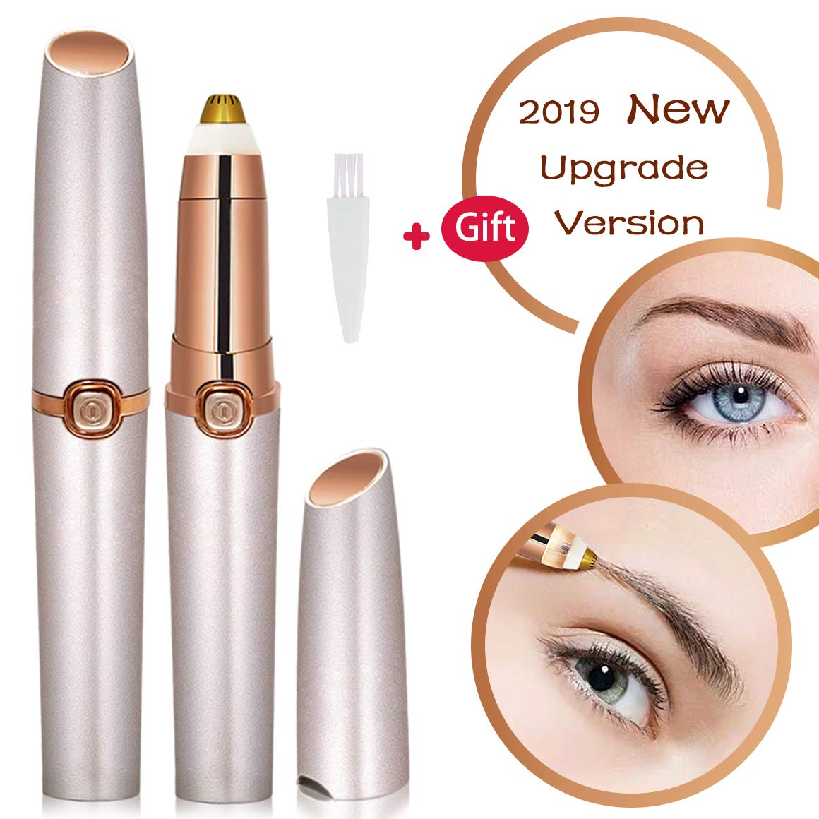 Eyebrow Trimmer For Women Mother's Day Eyebrow Hair Remover Electric Painless Ficial Hair Remover(Battery NOT Included)