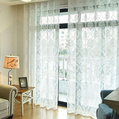Amazon.de: YangD Gardinen Wohnzimmer Modern mit Ösen, Voile