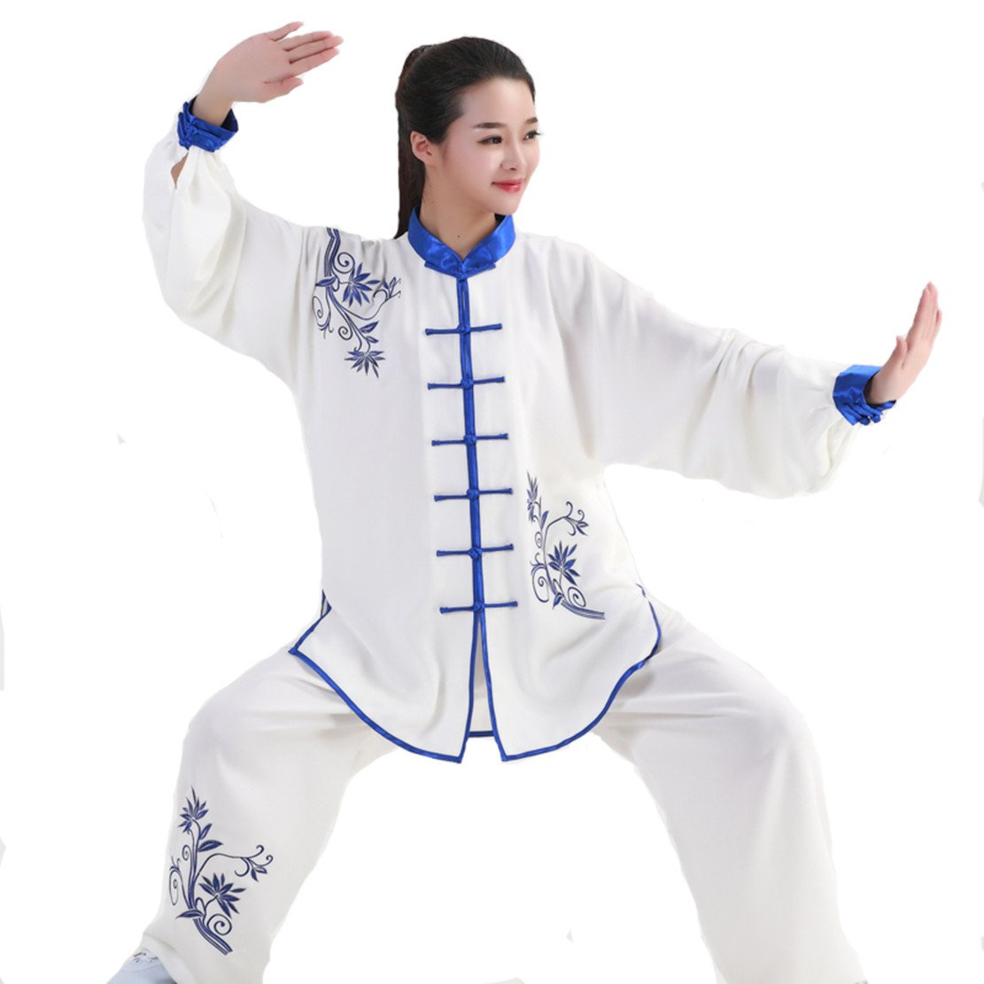 W.H.S Cotton Emboridery Tai Chi Uniform Taichi Clothes Martial Arts Kung fu Suits Taiji Trainning Clothes Tang Suits CHINA