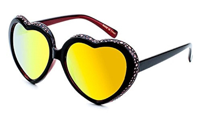 20011457b25 Amazon.com  Women s Festival Heart Shaped Rhinestone Sunglasses (Merlot)   Clothing