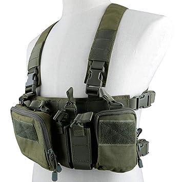 Hotour Chaleco táctico Pecho Rig 500D Molle Multicam Tactical ...