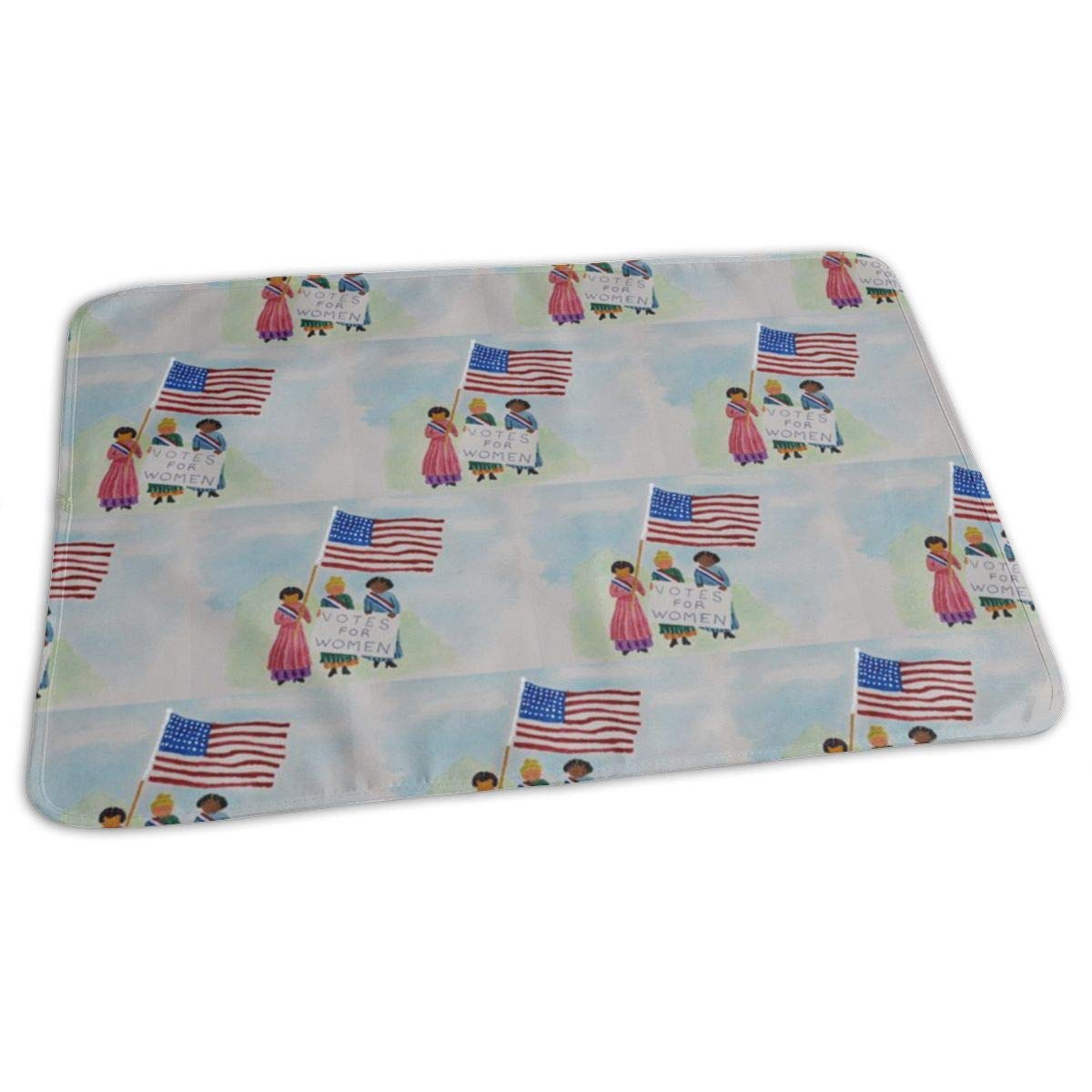 Watercolor Suffragettes Baby Portable Reusable Changing Pad Mat 19.7x27.5 inch