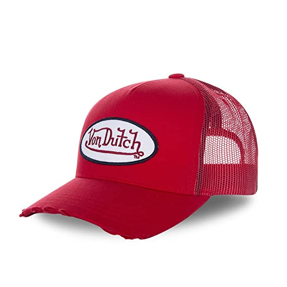 61b045bb Von Dutch Men's Baseball Cap - Red - One Size: Amazon.co.uk: Clothing