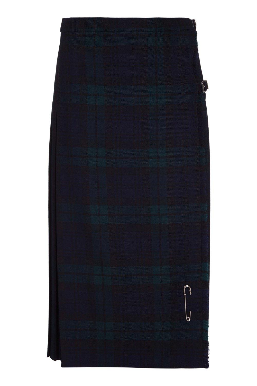 Ladies Long Kilt in Pure New Wool, Black Watch, US10