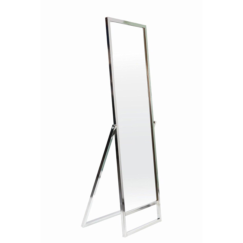 Professioneller Standspiegel einseitig Garderobenspiegel Anprobespiegel Therapiespiegel Spiegel - H 165 cm, verchromt