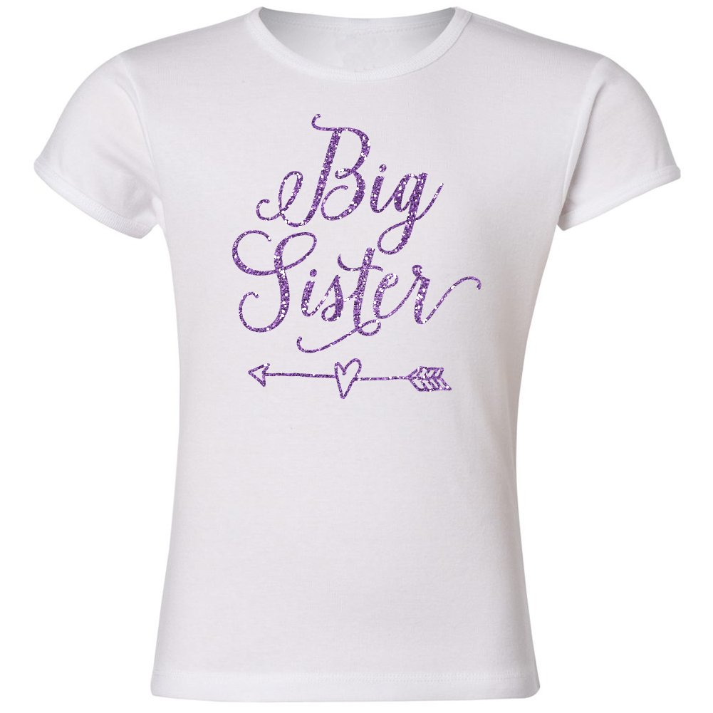 Big Sister Sparkly Purple Girls Cut T-Shirt
