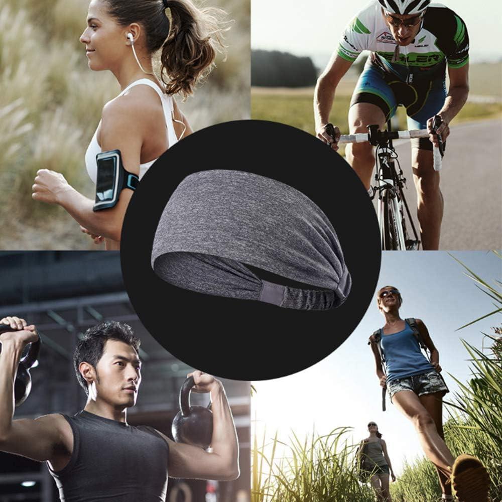 Ciclismo MiaoMa 3 Pack Fascia per Sport in Esecuzione Fascia per Capelli Sport Wicking Fascia per Uomo Donna Fascia per Sudore Assorbente per Yoga Equitazione Esercizio Basket Fitness