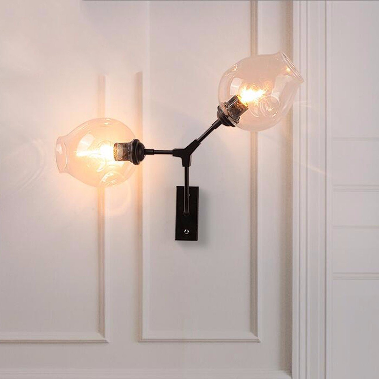 T-ZBDZ Wandlampe Studie Wohnzimmer Nachttischlampe magische Glaswand Lampe