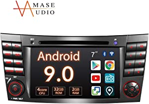 """Amaseaudio Car stereo, 2 Din for Benz E-Class W211/CLS-Class W219, 7"""" Touchscreen, In-Dash DVD Player, Support Android Auto Apple Carplay/GPS navigation/HD1080P/Fast Boot/Backup Camera/OBDII"""