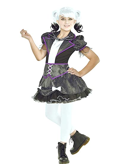hallocostume girls jack skellington costume the nightmare before christmas halloween costumes for girls - Nightmare Before Christmas Halloween Costume