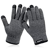 4UMOR Winter Warm Gloves Touchscreen Super Soft Thick Fleece Gloves Outdoor Windproof Driving Gloves for Men and Women (Large)