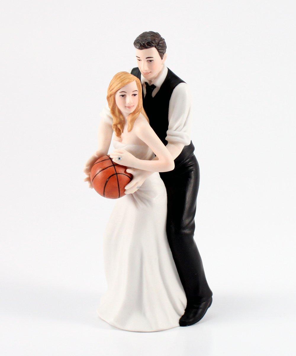 Weddingstar Basketball Dream Team Bride and Groom Couple Figurine for Cakes