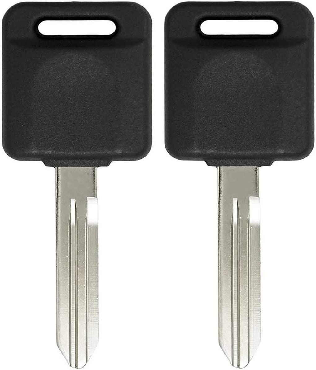 2x New Replacement Keyless Transponder Ignition Key For Nissan ID 46 Chip N104T