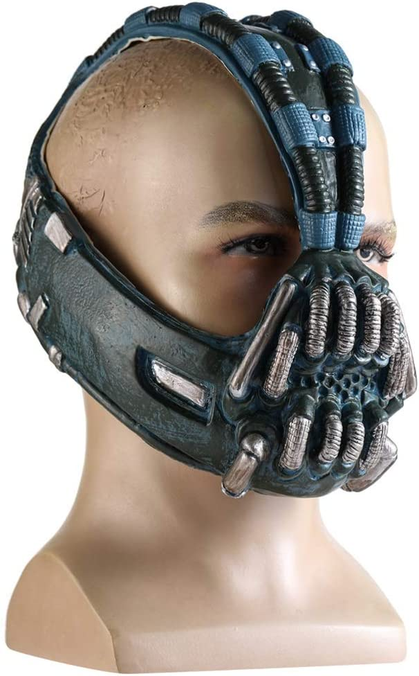 Stylelove Bane Mask Dark Knight Rise Batman Latex Cosplay Helmet Costume Maschere Accessori per Halloween