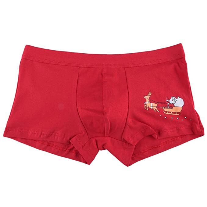 Webla Men Briefs Boxer ,Christmas Mens Santa Claus Triangle Briefs Shorts Pouch Soft Sex Underwear