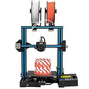 Geeetech A10M Impresora 3d con Mix de color de impresión, Dual de extruder de diseño, Filamento Detector de metales y...