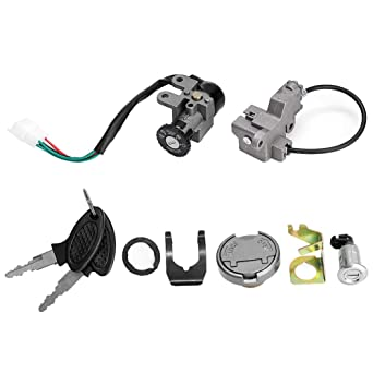 Ignition Lock and Tumbler Switch Fit for Motorcycle Motorbike Dirt Bike